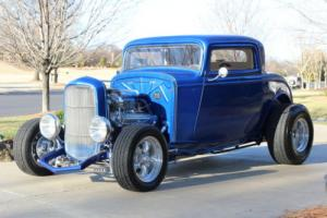 1932 Ford Viper Blue 3 Window Coupe Highboy Excellent Condition Suicide Doors