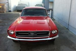 1967 Ford Mustang Red 289 engine