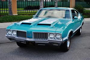Documented 70 Olds 442 W-30 optioned with F-Heads, 455, 4-spd, Matching Numbered Photo