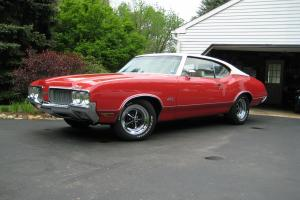 1970 Oldsmobile 442 455CI Turbo 400 3:23 Differential Red/Pearl 69K orig miles