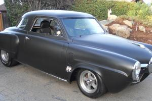 Bullet Nose Old school hot rod , tubbed  flat black paint