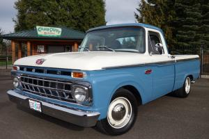 1965 Ford F100 Blue & Ivory Gray Interior 351 Windsor C6 Auto PS PDB