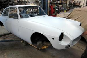 "1974 MGB-GT Complete Professional ""Body In White"" Body Tub Restoration Photo"