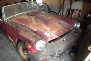 1975 MG Midget complete /ready to be restored /Florida car no reserve , cln tle