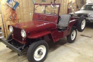 1948 Willys Jeep CJ2A Professionally Restored