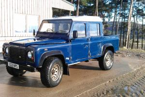 2000 LAND ROVER DEFENDER 110 TD5 BLUE DOUBLE CAB PICK UP - NEW CHASSIS