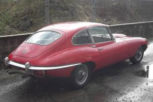 Restored Jaguar E-Type 2.2 Auto Red 1969 , 52K miles , Wire Wheels , Black Int.