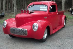 1941 WILLYS PRO STREET PICK UP TRUCK 350 DUAL CARBS TILT NOSE NICE DRIVER NR NJ