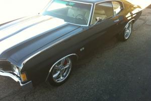 1972 chevy chevelle ss-air ride-big brakes-pro touring-laser straight