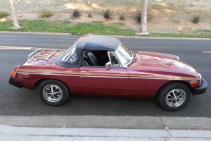 1978 MGB Maroon two door convertible.  Really good condition!