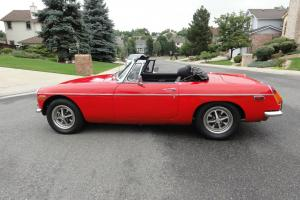 1974 MGB Red Convertible W/Chrome Bumpers