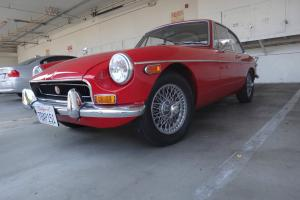 1970 MGB GT Original Color New Paint CA Car 4 Speed Manual Wire Wheels Restored Photo