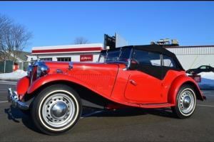 1952 MG TD Roadster Fresh service New Top Very Nice!