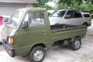 1988 Subaru Sambar Mini Truck Army Green
