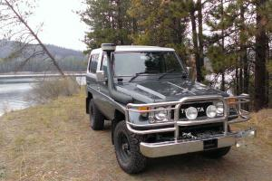 1988 bj74 Land Cruiser Diesel with Emu lift, Safari snorkel, Goodyear Duratracs