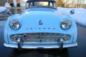 1960 TRUMPH TR3A POWDER BLUE WITH OVERDRIVE