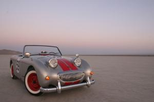 "1959 AUSTIN HEALEY BUGEYE SPRITE ""THE AIRPORT RACER"" SUPERCHARGED W/ TRAILER"