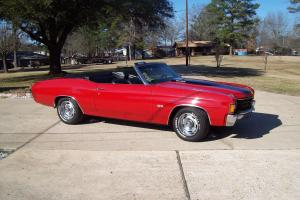 1972 Chevelle SS convertible 402 big block Chevrolet Chevy Muscle Car