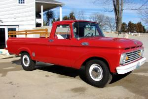 1963 Ford F-250 Red Pickup Truck with 32,607 original miles Photo