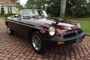 1980 MG MGB 4-Speed Convertible Incredible Paint Very Original Low Miles Photo