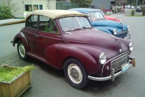 1953 Morris Minor Tourer (convertible) classic split window