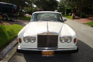 1978 ROLLS ROYCE SILVER SHADOW WHITE 4 DOOR SEDAN