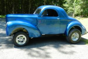 1941 WILLYS COUPE GASSER RARE 4 SPEED, BLOWN SBC!