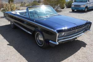 1966 Chrysler Newport  Convertible 2-Door 383 cid  Factory Air conditioning