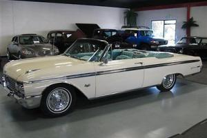 1962 Ford Galaxie 500XL Suliner Convertible 390 V8 Auto AC Pwr Brakes/Steering