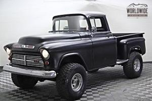 1955 GMC 3100 Flat Black 4X4 AUTO V8 Short Bed DRIVE ANYWHERE Photo