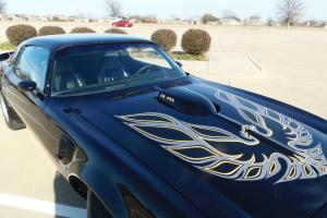 1976 pontiac T/A Numbers matching 455 4 speed, Black, many upgrades