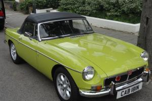 1974 MG B Roadster in Great Condition - Original Chrome Bumper