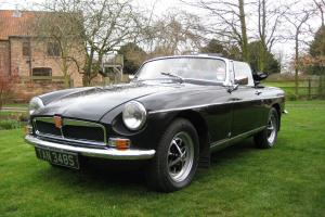 1978 MGB MG B Roadster Black Convertible