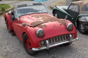 TRIUMPH TR3a 1960 GENUINE BARN FIND RUNS GREAT 30years in storage Very Rare find