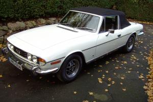 1975 TRIUMPH STAG MANUAL O/DRIVE V8 WHITE PREVIOUS FAMILY OWNED 18 years