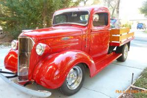 1937 Chevy Custom Truck (RestoMod) Flatbed with Oak Wood Bed and Rails