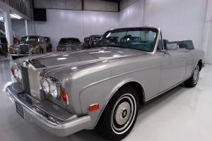 1985 ROLLS-ROYCE CORNICHE CONVERTIBLE. LOW MILES!! STUNNING!! Photo
