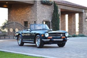 1974 Triumph TR6 Roadster CA car Stunningly restored All books and provenance