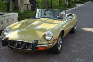 1974 JAGUAR XKE S III ROADSTER, ORIGINAL 23,850 MILES, AUTOMATIC WITH AC.