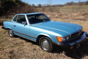 1976 MERCEDES BENZ 450SL CONVERTIBLE-LOW MILEAGE-REMOVABLE HARD TOP-CLEAN