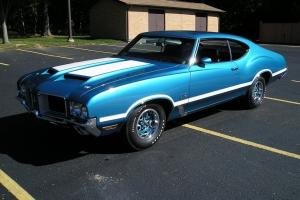 1971 Oldsmobile 442 455ci., M-20 4-Speed, Viking Blue, #'s Match, All Paperwork