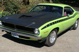 1970 Plymouth Cuda original 340 4 speed LIME LITE green AAR tribute/clone 6 bbl