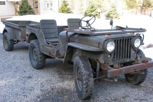 1952 Willys M38 Military Jeep with M100 trailer  * RARE Original Unrestored *