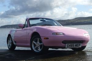 MAZDA MX5 Eunos Sports Roadster, 1989, 1.6 Manual, PINK Convertible. Low miles!
