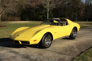 Beautiful 74 Yellow Corvette Coupe definitely a survivor car w/ matching numbers Photo