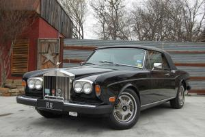 1980 Rolls-Royce Corniche II Convertible, Black / Beige, Well Documented History Photo