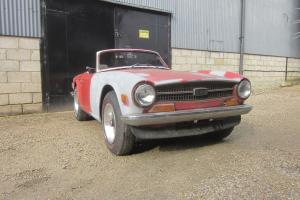 Triumph TR6 1972 LHD Pimento for restoration L@@K