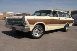 "1966 FORD FAIRLANE ""SQUIRE"" WOODY WAGON, SPRINGTIME YELLOW, VERY VERY RARE,"