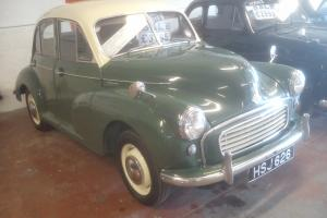 lovely 56 splitscreen morris 1000 green/cream long mot