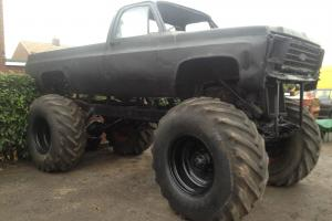 MONSTER TRUCK OFF ROAD CHEVROLET PICKUP ADVERTISING PROP SCRAP YARD PAINTBALL